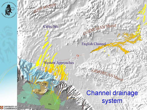 Quaternary Palaeoenvironments Group (QPG) » How Britain ... on on a physical map english channel, rise of flight channel, body of the central channel,